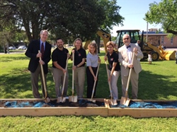 Groundbreaking for the new OU Physical Therapy Clinic