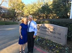 Dean Knehans visits Cooper Clinic in Dallas