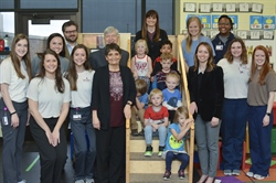 National Read Across America Day with iLEAP Children and the First Ladies of OUHSC!